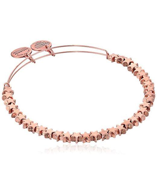 ALEX AND ANI - Metallic S Star Beaded Bangle Bracelet - Lyst