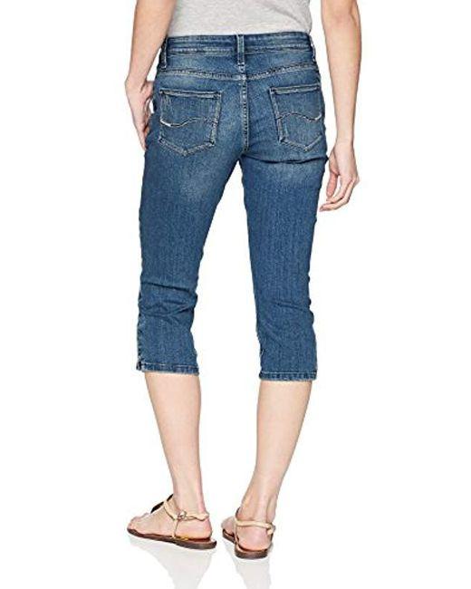 3b2db242 ... Lee Jeans - Blue Petite Modern Series Midrise Fit Jayla Capri Jean -  Lyst ...