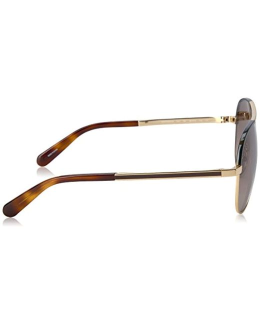 4a929844ea5 ... Kate Spade - Brown Kate Spade Amarissa Aviator Sunglasses - Lyst ...