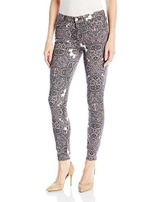 7 For All Mankind - Multicolor Ankle Skinny In Swan River Paisley - Lyst