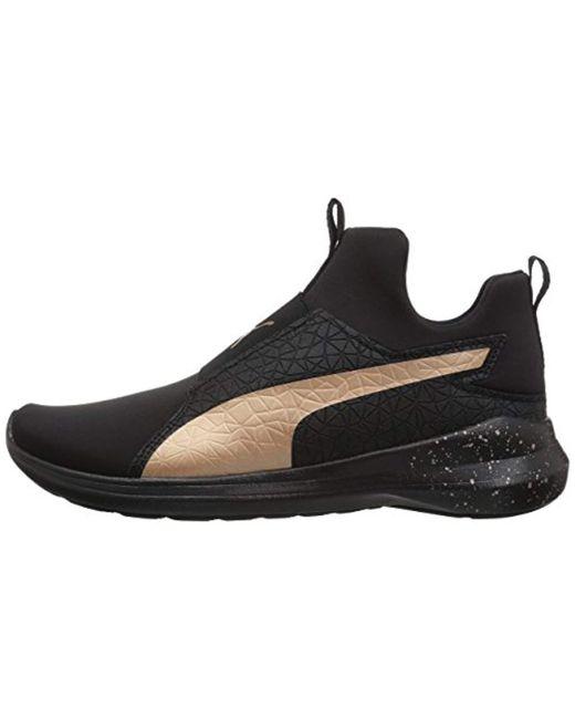 72dfba60995f ... PUMA - Black Rebel Mid Wns Mettallic Sneaker - Lyst ...