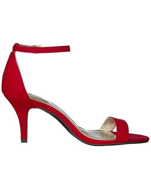 e6696ea8d5b ... Bandolino - Red Madia Dress Sandal - Lyst ...