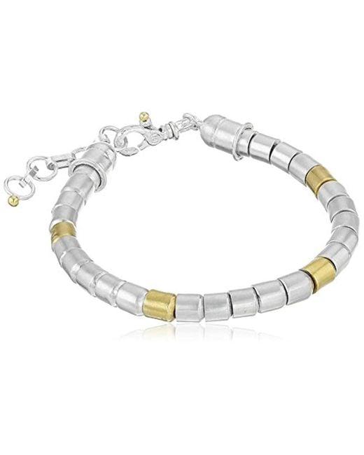 "Gurhan - Metallic Vertigo Sterling Silver Large Bead Bracelet, 8"" - Lyst"