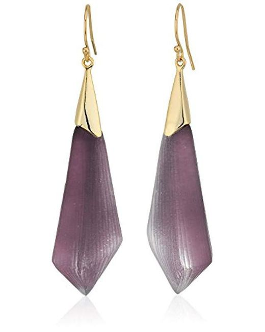 Alexis Bittar - Multicolor Faceted Wire Deep Lilac Drop Earrings - Lyst