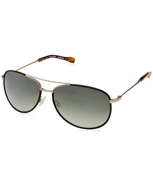 2edde3430b3 Sam Edelman - Multicolor Elie Tahari El236 Gld Aviator Sunglasses - Lyst ...
