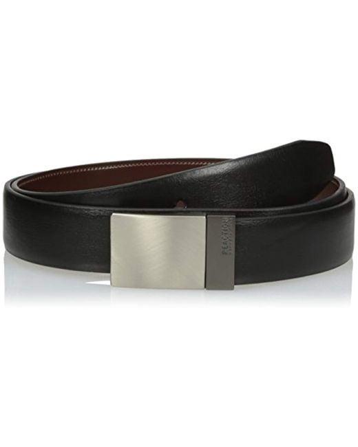 Kenneth Cole Reaction - Black Reversible Plaque Buckle Belt for Men - Lyst