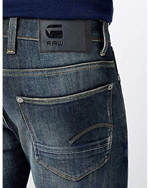 09d6195a1089a3 ... G-Star RAW - Blue G-star Revend Straight Jeans for Men - Lyst ...