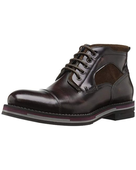 Kenneth Cole - Brown Think Tank Combat Boot for Men - Lyst