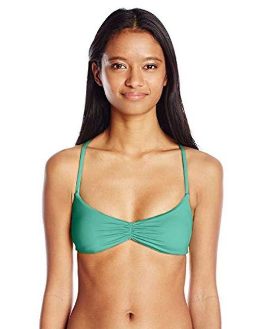 Billabong - Blue Sol Searcher Crossback Bikini Top - Lyst