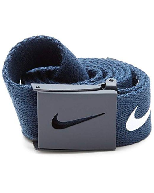 Nike - Blue Tech Essential Web Belt for Men - Lyst