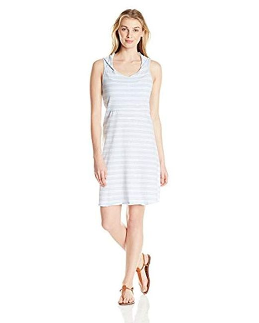 Marc New York - White Hooded Thick Thin Stripe Dress W/shelf Bra - Lyst
