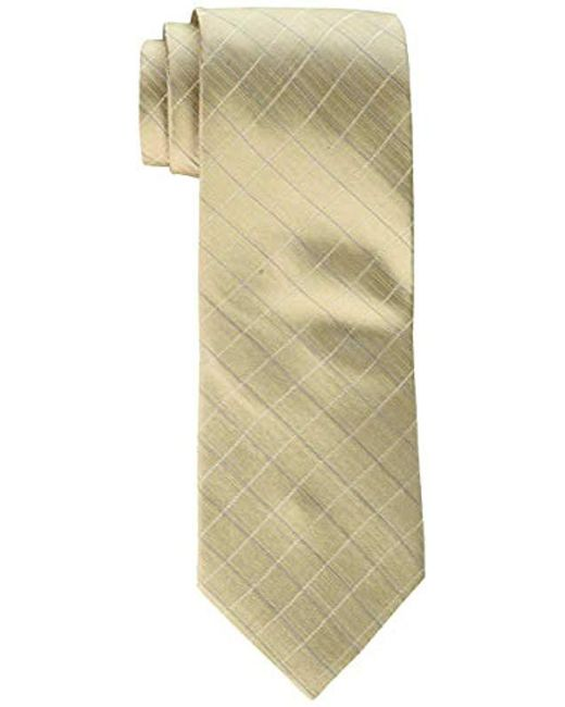 Calvin Klein - Natural Etched Windowpane B Tie for Men - Lyst