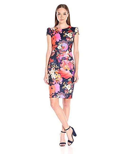 Betsey Johnson - Multicolor Bouquet Floral Midi Dress - Lyst