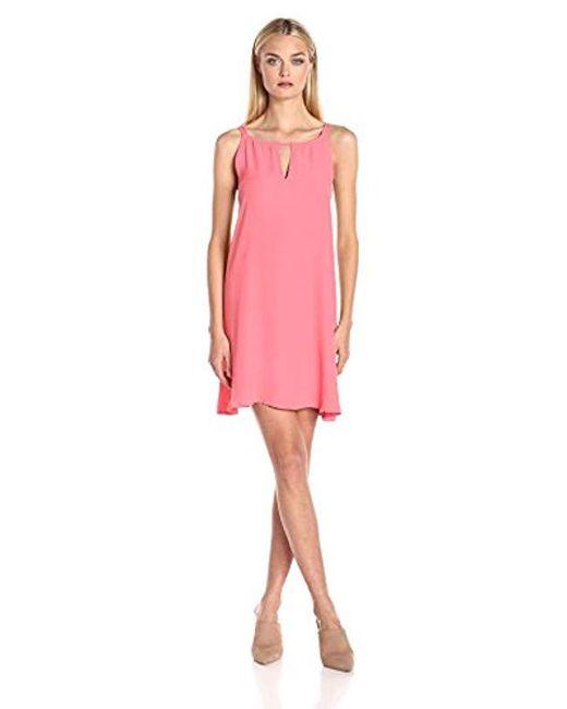 BB Dakota - Pink Rachel A-line Crepe Dress - Lyst