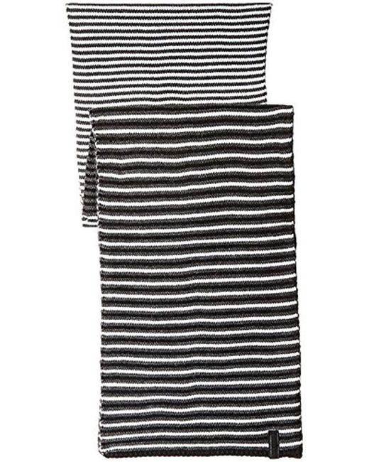ea45c116f6007 ... Calvin Klein - Black Striped Scarf for Men - Lyst ...