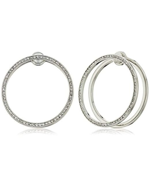 Rebecca Minkoff - Metallic S Drama Double Hoop Earrings - Lyst