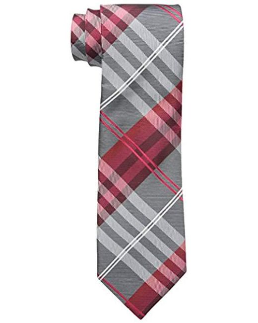 Geoffrey Beene - Red Petros Plaid Ii Tie for Men - Lyst