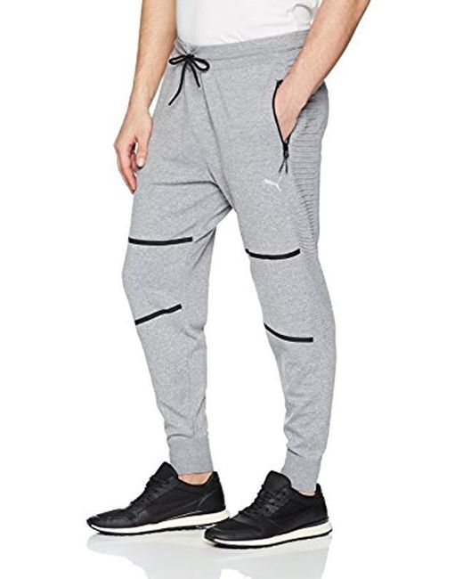 35098ed93c30 PUMA - Gray Evoknit Energy Trackster Jogger Pants for Men - Lyst ...