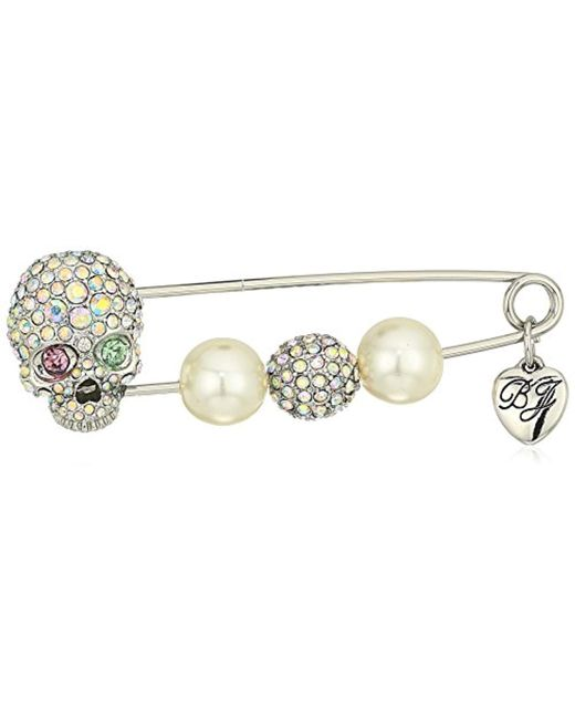Betsey Johnson - Multicolor Skull And Pearl Brooches And Pin, Multi - Lyst
