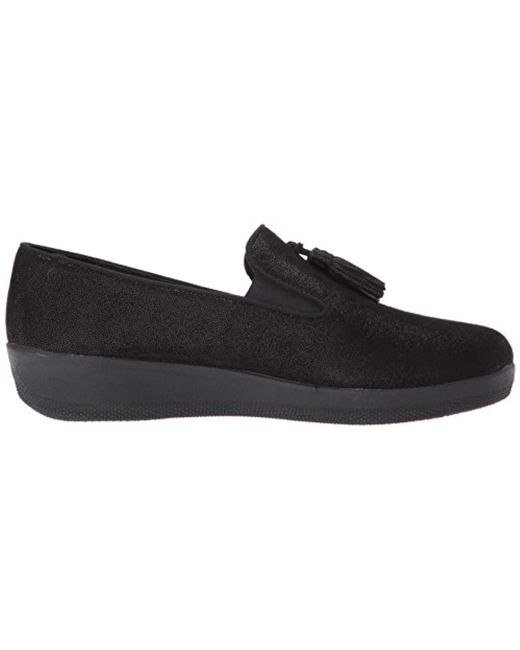 bad10963469 Lyst - Fitflop Tassel Superskate Shimmer Loafer in Black - Save 13%