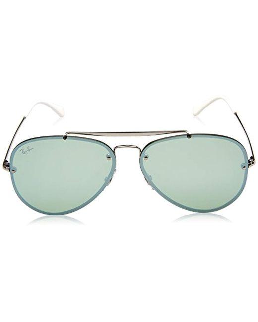 d32ae95949 ... Ray-Ban - Metallic Rb3584n Blaze Aviator Sunglasses for Men - Lyst ...