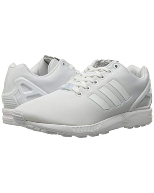 5fef1db6e02af Lyst - adidas Originals White Zx Flux Trainers in White for Men ...