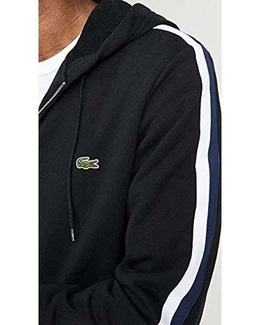3bdff6ce Lyst - Lacoste Zip Sport Sweatshirt in Black for Men - Save 30%