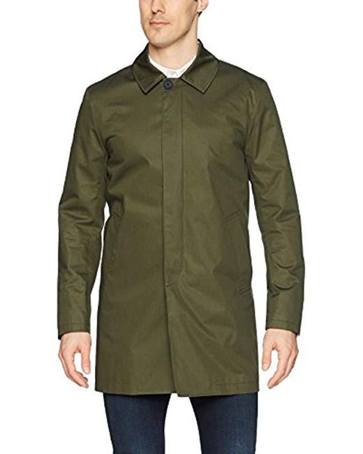J.Lindeberg - Green Water Repellent Twill Coat for Men - Lyst
