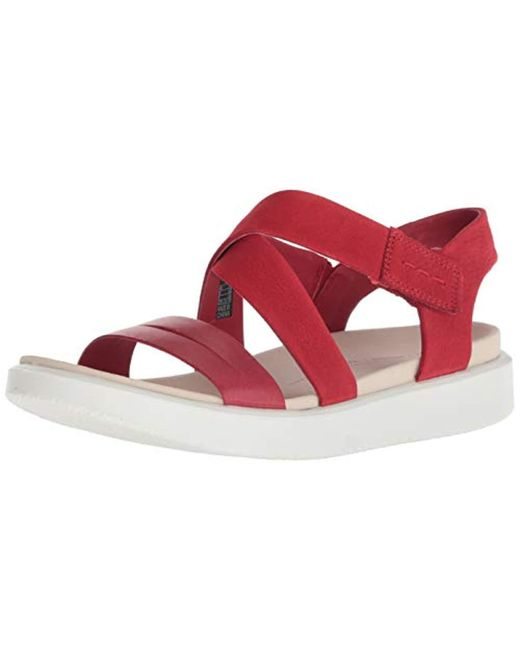 309d59681b87 Ecco - Red Flowt Cross Sandal - Lyst ...