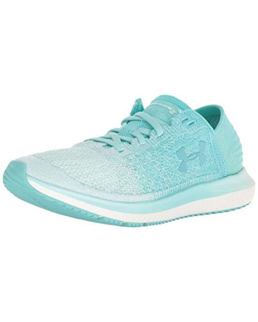 Under Armour - Blue Women's Ua Threadborne Blur Running Shoes - Lyst