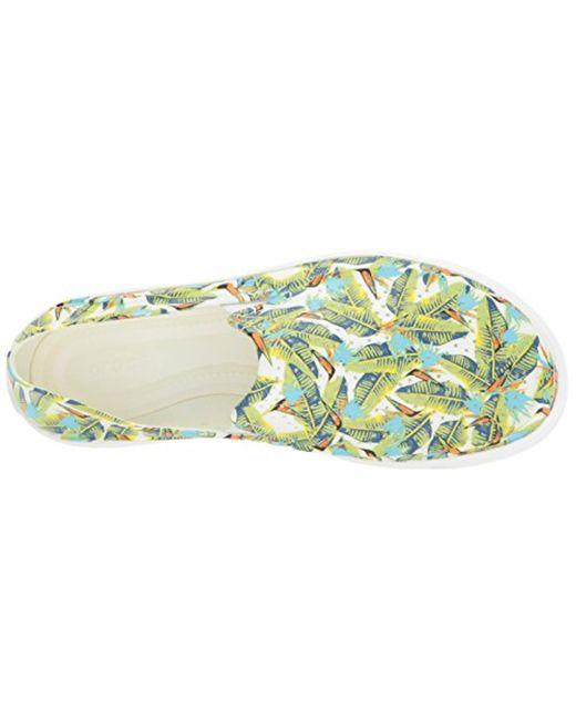 3d64493f72 ... Crocs™ - Green Citilane Roka Graphic Slipon W Flat - Lyst