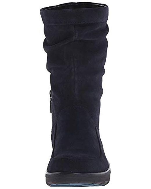 02a490a0a94e1d ... Fitflop - Black Loaff Slouchy Knee Suede Slouch Boot - Lyst ...