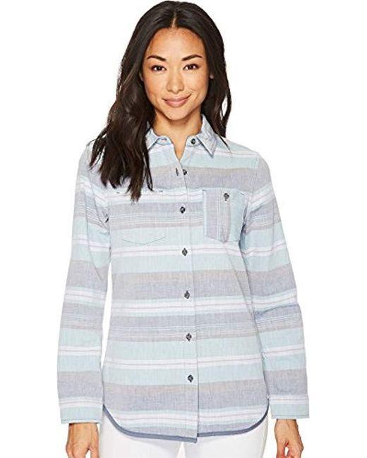 Pendleton Blue Reversible Serape Stripe Cotton Shirt