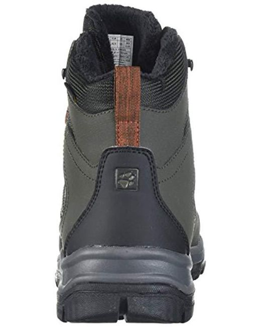6a3aa25494a ... Jack Wolfskin - Black Cold Terrain Texapore Mid M Fashion Boot for Men  - Lyst ...
