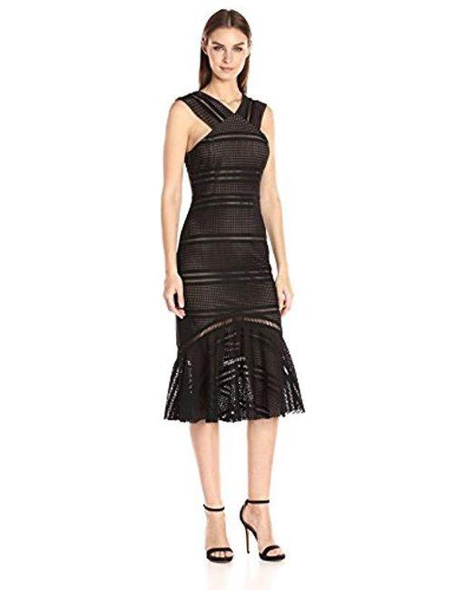 Tracy Reese - Black Flounced Halter Dress - Lyst