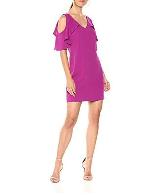 0f1cdecc24236 ... Trina Turk - Purple Trina Kaidence Cold Shoulder Dress - Lyst