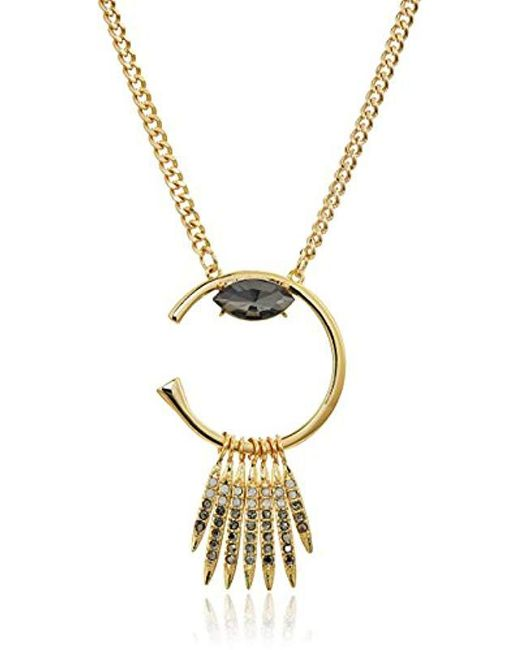 Rebecca Minkoff - Metallic S Peyton Deco Pendant Necklace - Lyst