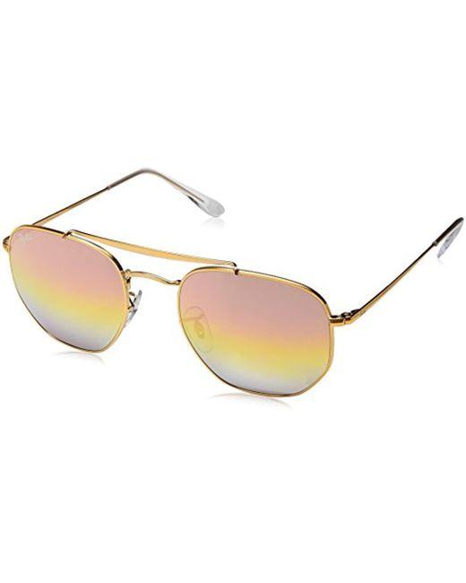 Ray-Ban - Metallic Rb3648 Marshall Aviator Sunglasses - Lyst