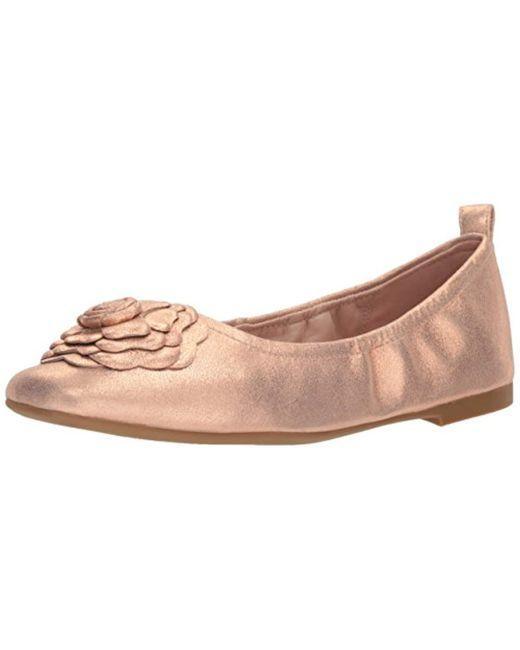 7ddcb097351 Taryn Rose - Multicolor Rosalyn Powder Metallic Ballet Flat - Lyst ...