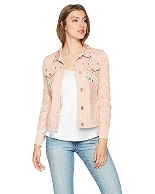 Desigual Multicolor Zaira Embroidered Detail Denim Jacket