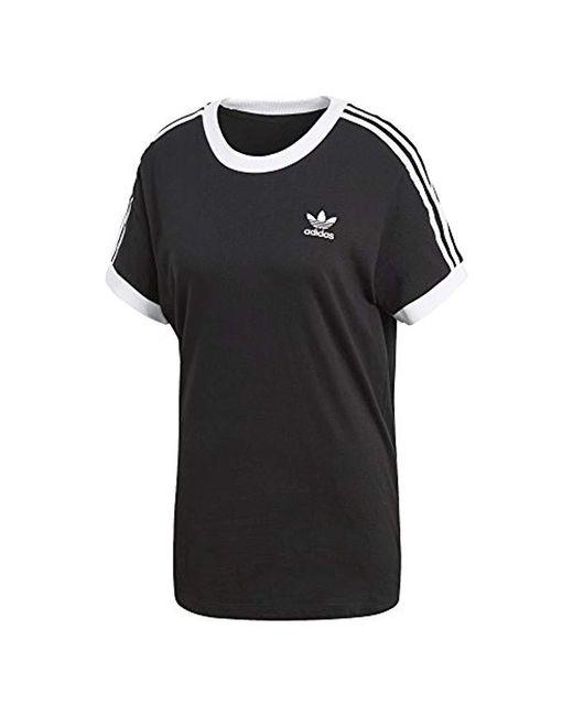 45c23a72 adidas Originals 3 Stripes T-shirt in Black - Save 29% - Lyst