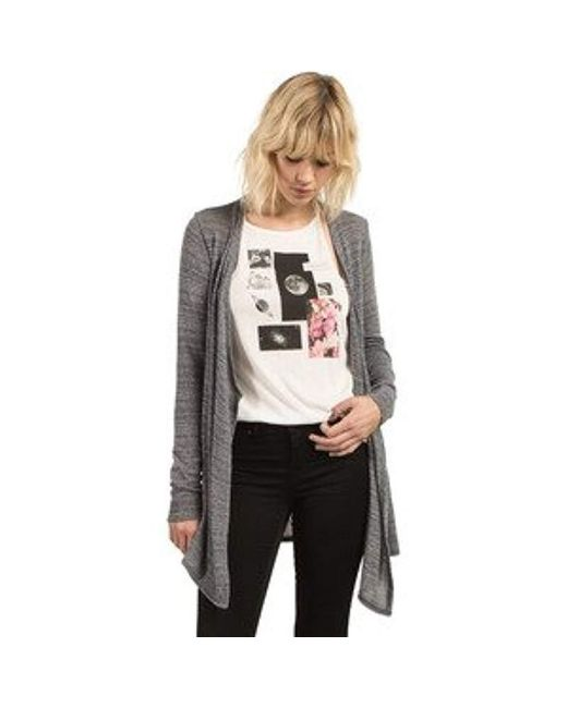 Volcom - Gray Lived In Go Sweater Wrap - Lyst