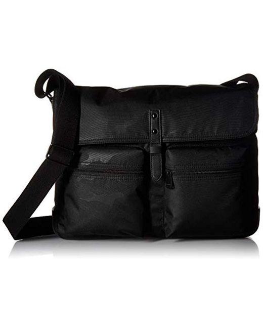 Fossil Black S Buckner Messenger Bag for men
