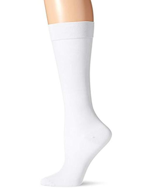 72921408a34 Lyst - Dr. Scholls Premier Sheer Firm Support Socks in White - Save ...