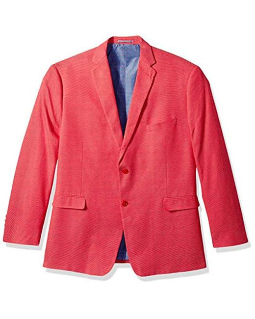 Lyst - U.S. POLO ASSN. Big And Tall Fancy Cotton Sport Coat in Red ... 35c35cb1410
