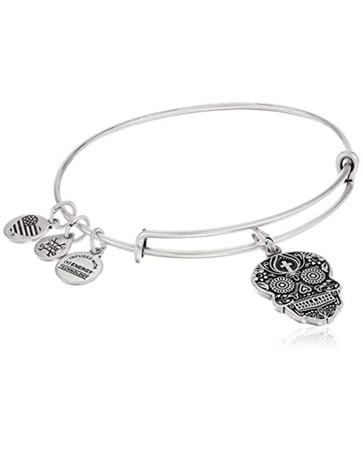 ALEX AND ANI - Metallic Calavera Rafaelian Bangle Bracelet - Lyst