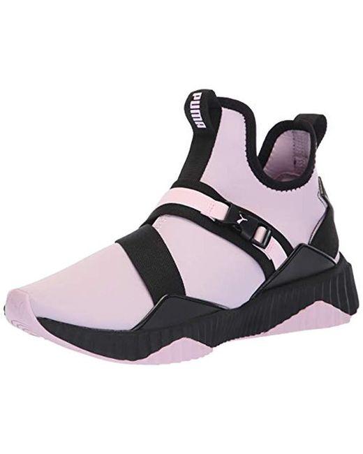 PUMA - Black Defy Mid Sneaker - Lyst