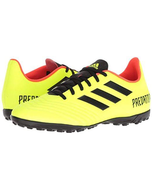 70b4f3f3ba56 ... Adidas - Yellow Predator Tango 18.4 Turf Soccer Shoe for Men - Lyst ...