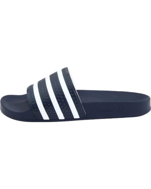 finest selection aa018 821d9 ... Adidas - Blue Adilette (new Navywhite) Shoes for Men - Lyst ...