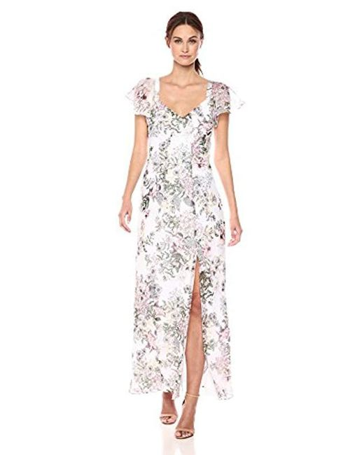 Guess White Short Sleeve Loyola Maxi Dress